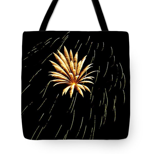 Green Streaks Tote Bag by Phill Doherty