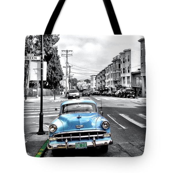 Green Street Tote Bag by Julie Gebhardt
