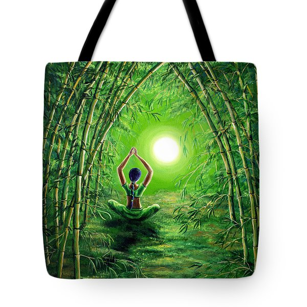 Green Tara In The Hall Of Bamboo Tote Bag