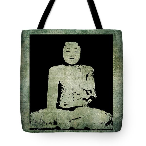 Green Tranquil Buddha Tote Bag by Kandy Hurley