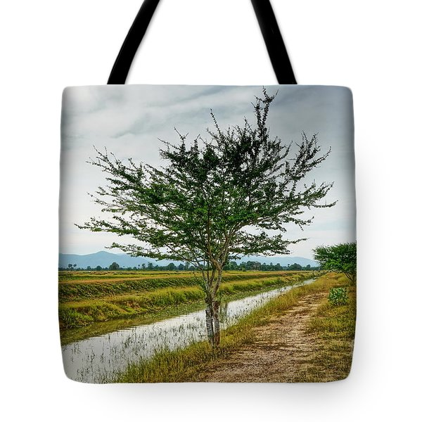Green Tree Tote Bag
