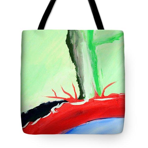 Green Tree Red Ridge Tote Bag