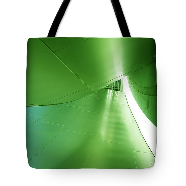Tote Bag featuring the photograph Green Tunnel. Los Angeles Series. by Ausra Huntington nee Paulauskaite