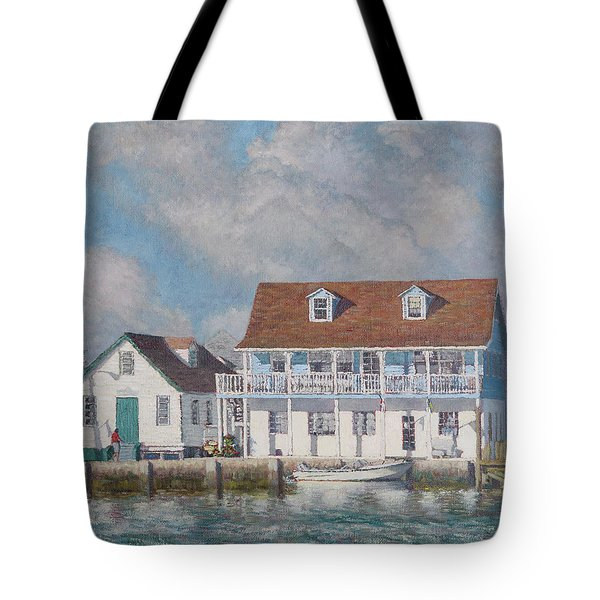 Green Turtle Cay Past And Present Tote Bag