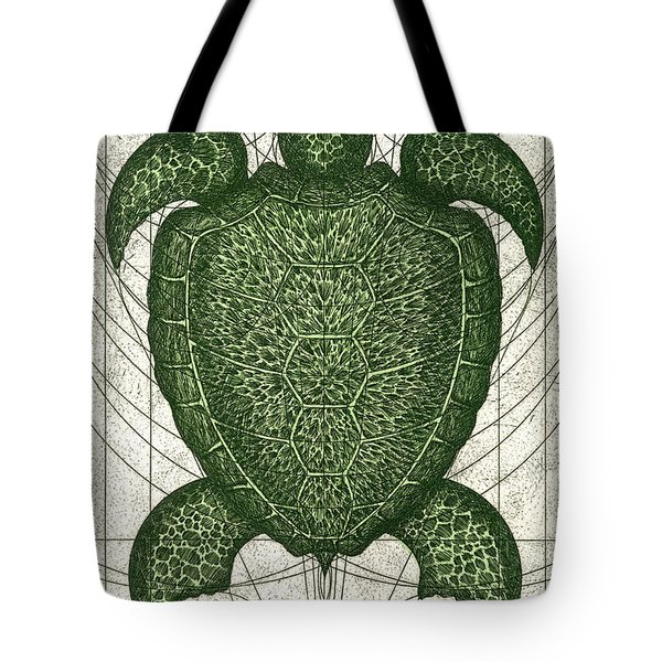 Green Turtle Tote Bag by Charles Harden