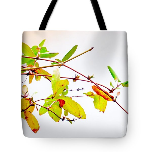 Green Twigs And Leaves Tote Bag
