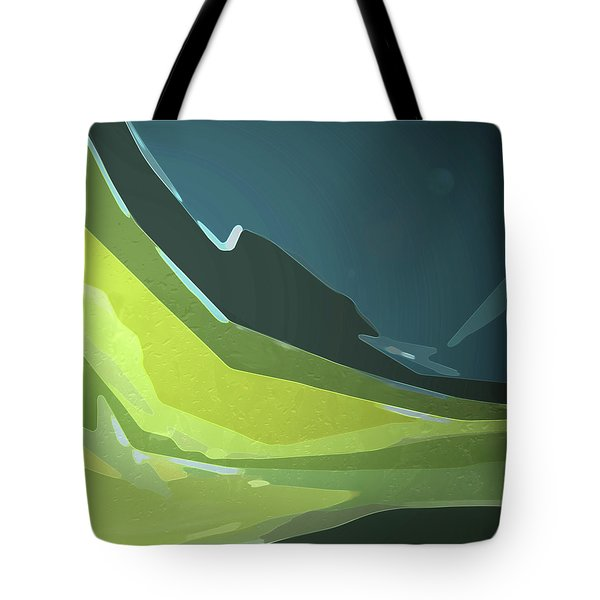 Tote Bag featuring the digital art Green Valley by Gina Harrison