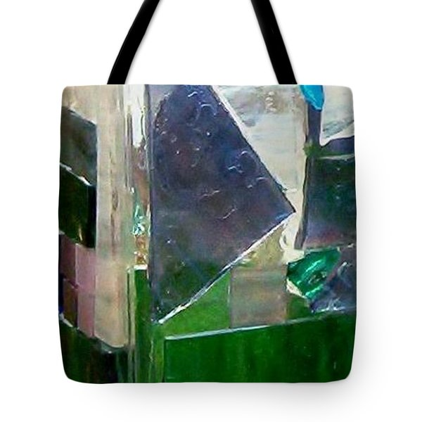 Tote Bag featuring the glass art Green Vase by Jamie Frier