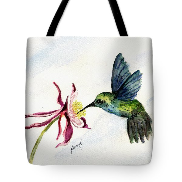 Green Violet-ear Hummingbird Tote Bag