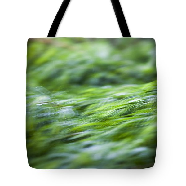 Tote Bag featuring the photograph Green Waterfall 1 by Serene Maisey