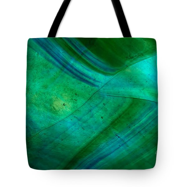 Green Wave Tote Bag