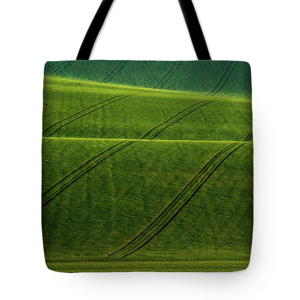 Tote Bag featuring the photograph Green Waves Of Rolling Hills by Jenny Rainbow