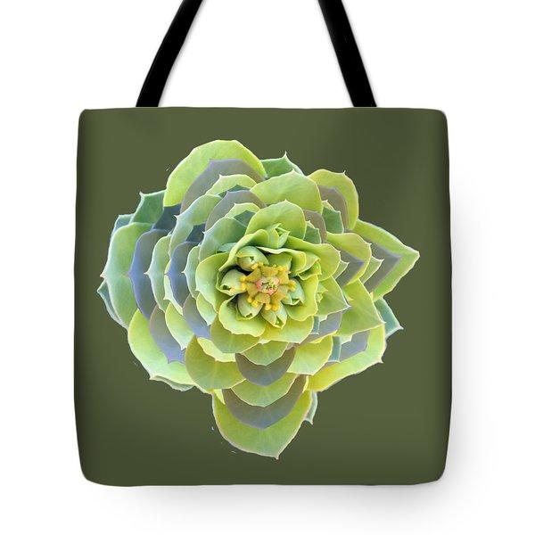 Green Weed Flower Kaliedoscope Tote Bag