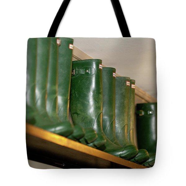 Green Wellies Tote Bag