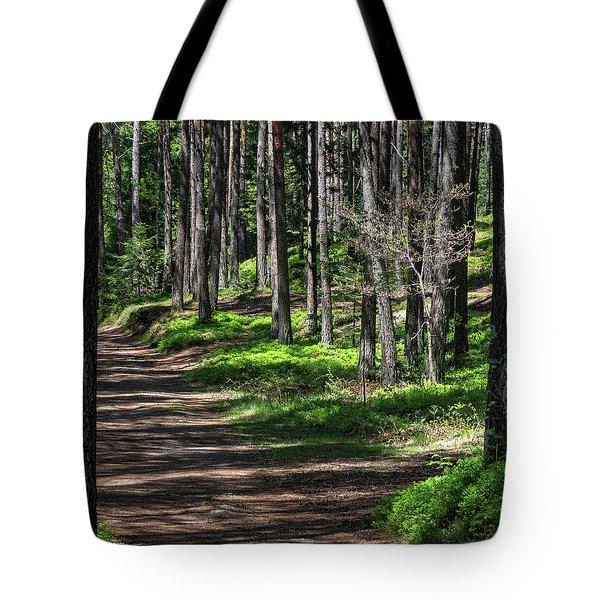 Green Wood Tote Bag