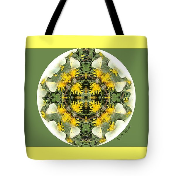 Green Yellow Kaleidoscope Tote Bag