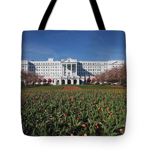 Greenbrier Resort Tote Bag