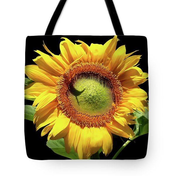 Tote Bag featuring the photograph Greenburst Sunflower by Rona Black