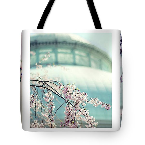 Tote Bag featuring the photograph Greenhouse Blossoms Triptych by Jessica Jenney
