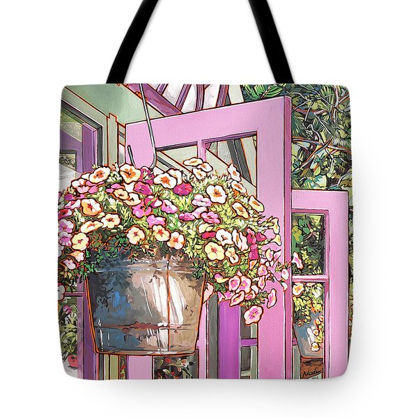 Greenhouse Doors Tote Bag by Nadi Spencer