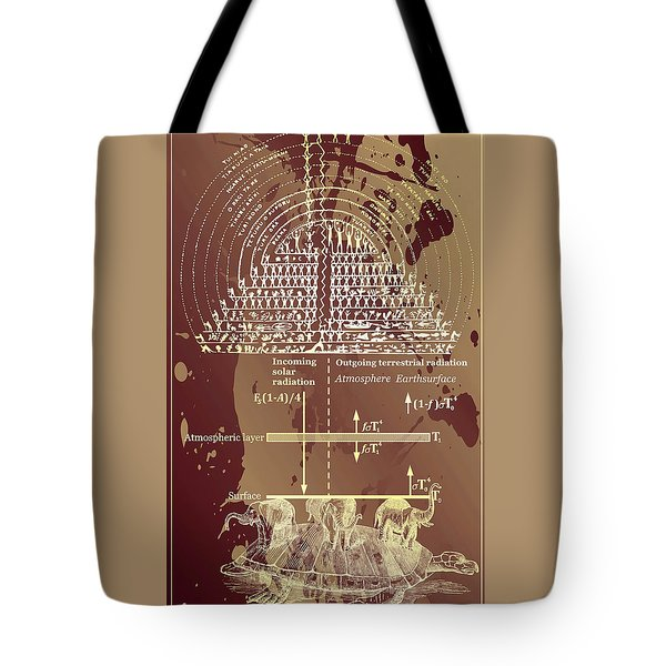 Tote Bag featuring the digital art Greenhouse Effect Mythology by Robert G Kernodle