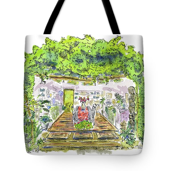 Greenhouse To Volcano Garden Arts Tote Bag