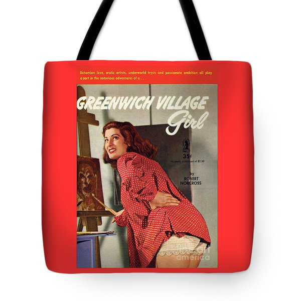 Tote Bag featuring the painting Greenwich Village Girl by Photo Cover