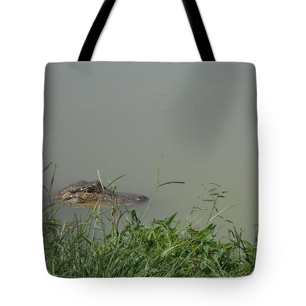 Tote Bag featuring the photograph Greenwood Gator Farm by Cynthia Powell
