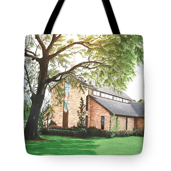 Tote Bag featuring the painting Greenwood by Mike Ivey