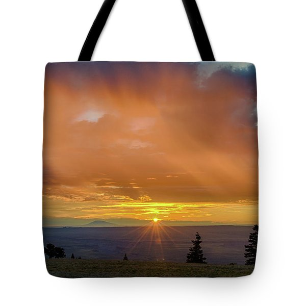 Greet The Marble View Morning Tote Bag