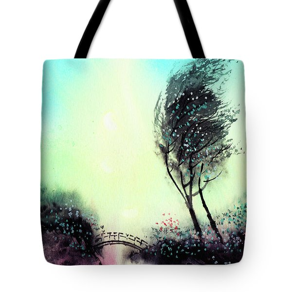 Tote Bag featuring the painting Greeting 1 by Anil Nene