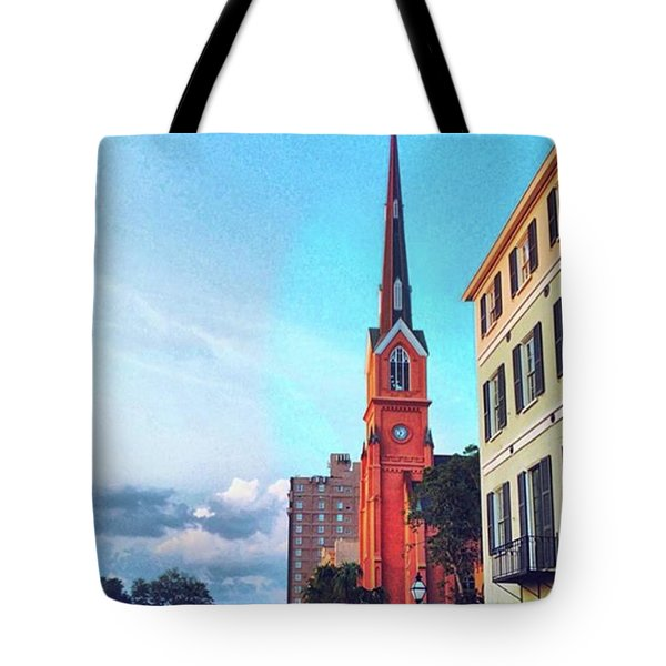 Greetings From Charleston.  I Love Tote Bag