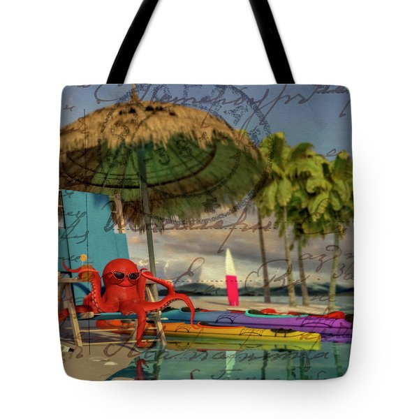 Greetings From The Caribbean  Tote Bag