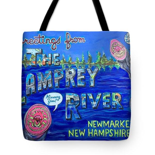 Greetings From The Lamprey River Tote Bag