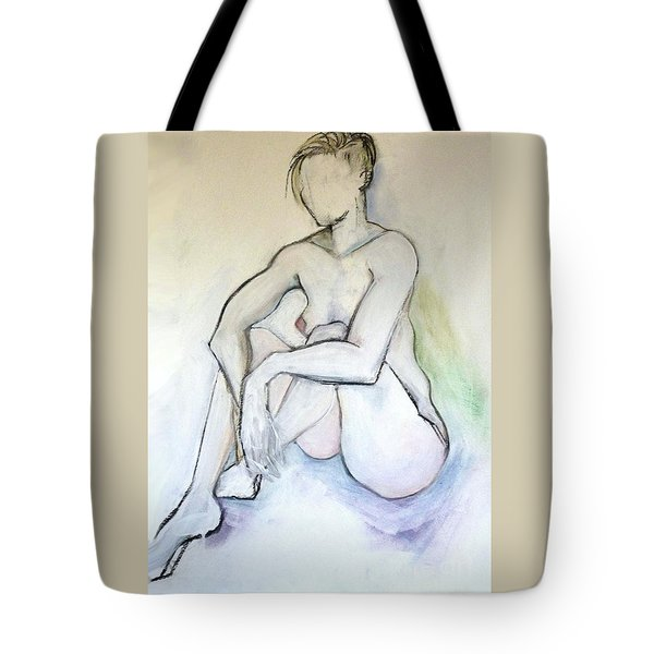 Gretchen - Female Nude Drawing Tote Bag by Carolyn Weltman