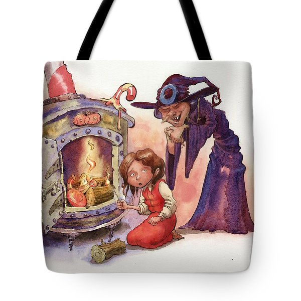 Gretel And Witch Tote Bag