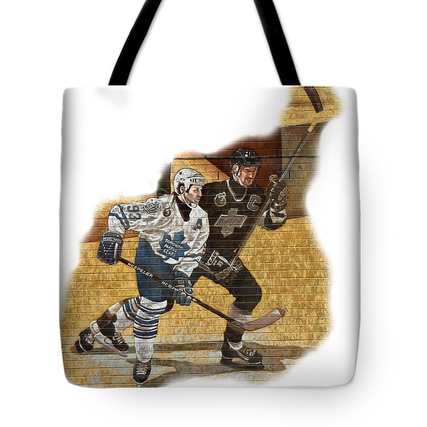 Gretzky And Gilmour Tote Bag by Andrew Fare