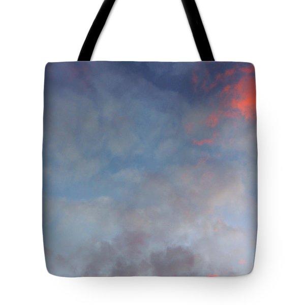 Pink Flecked Sky Tote Bag by Linda Hollis