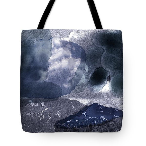 Grey Clouds Tote Bag