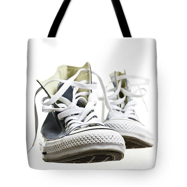 Gray Converse Sneakers Tote Bag