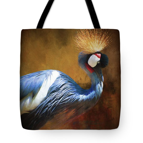 Grey Crowned Crane Tote Bag