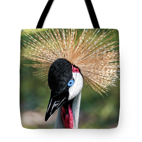 Grey Crowned Crane Gulf Shores Al 2041 Tote Bag