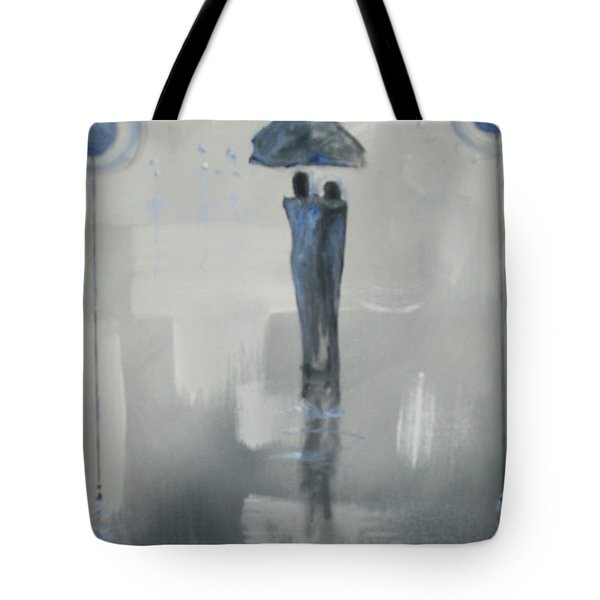Tote Bag featuring the painting Grey Day Romance by Raymond Doward
