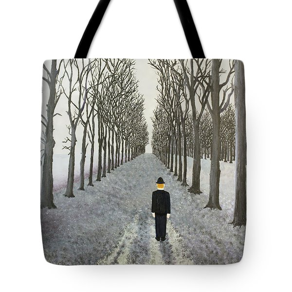 Tote Bag featuring the painting Grey Day by Thomas Blood