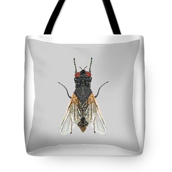 Grey Fly Pillow Tote Bag by R  Allen Swezey