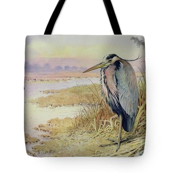 Grey Heron Tote Bag by John James Audubon