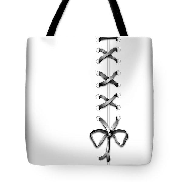 Grey Ribbon Tote Bag