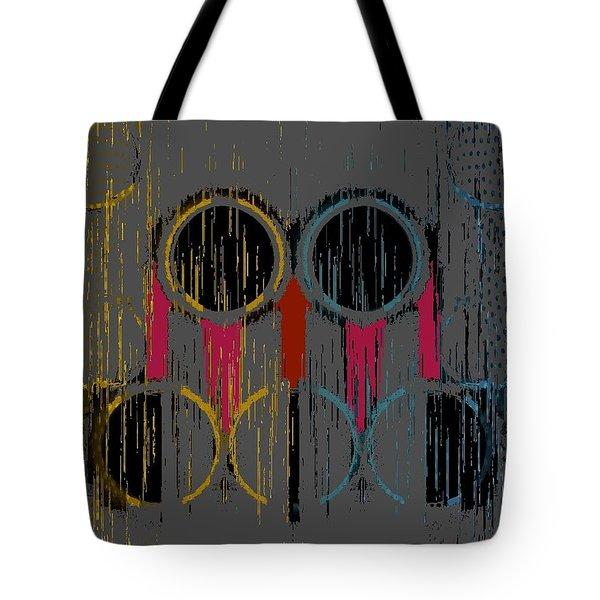 Grey Rings Tote Bag