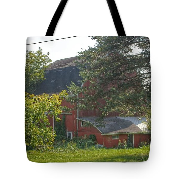 0015 - Grey Road Red I Tote Bag