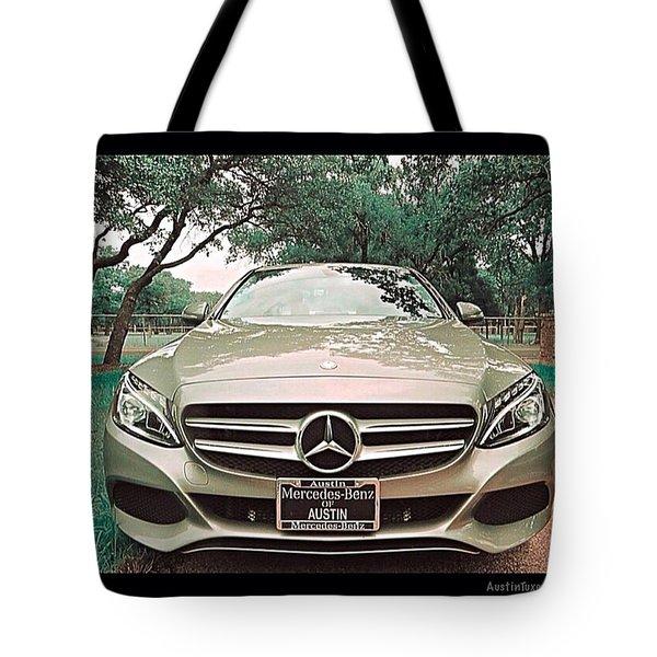 #grey #sky And A #silver Grey #car Tote Bag